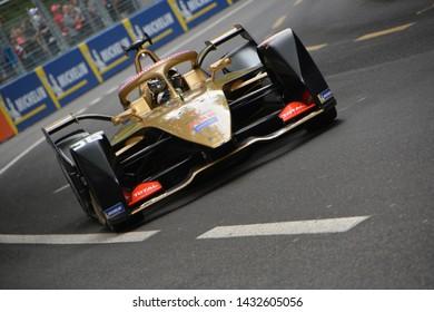 BERNE / SWITZERLAND - JUNE 22 2019: Belgian race car driver André Lotterer (DS Automobiles Techeetah Formula E Team) during the Swiss E-Prix on June 22, 2019 in Berne, Switzerland.
