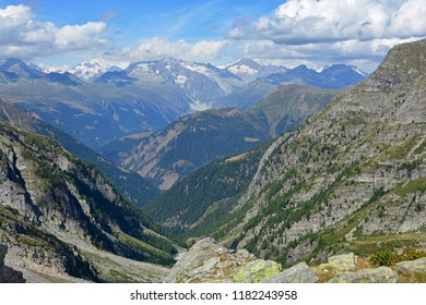 The Bernese Alps viewed from the Swiss-Italian border at the Chriegal Pass