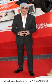 """Bernie Ecclestone arriving for the """"Rush"""" World premiere at the Odeon Leicester Square, London. 02/09/2013"""