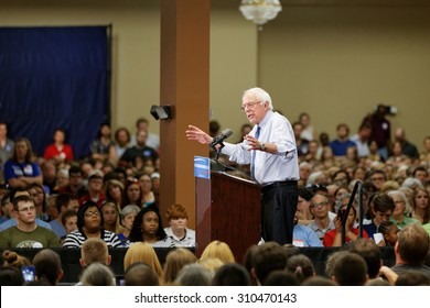 Bernie Sanders delivers a speech at the Medallion Center in Columbia South Carolina on August 21, 2015. Bernie touched on many topics such as immigration, education, and poverty.
