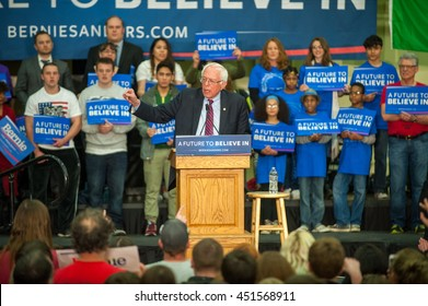Bernie Sanders at a rally at the Hudson's Bay high school in Vancouver Washington. 2/20/2016.
