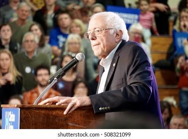 Bernie Sanders Speaking At Clinton Rally, Stronger Together Rally with Bernie Sanders, Portland, ME.,Deering High School, 11/01/2016
