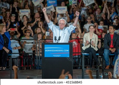Bernie Sanders speaks at the MODA Center in Portland, OR. 9/8/2015