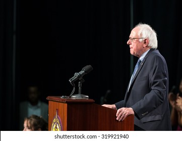Bernie Sanders spoke to an enthusiastic crowd inside of the gymnasium at Benedict College on September 12, 2015.