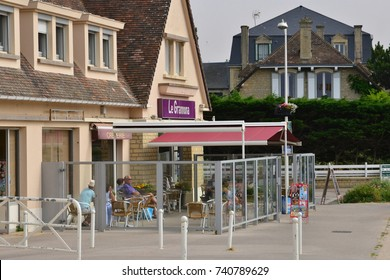 Bernieres sur Mer; France - july 17 2017 : the picturesque village