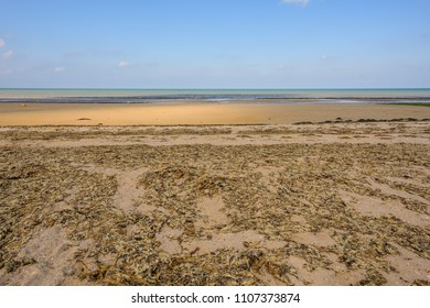 Bernieres-sur-Mer, Normandy, France - September 2, 2017: A view of one of the beaches where Allied Forces landed on D-Day June 6, 1944