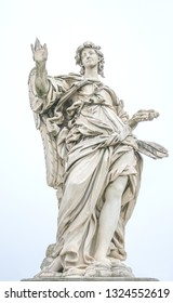 Bernini statue of angel in Rome, famous turist place in Italy.