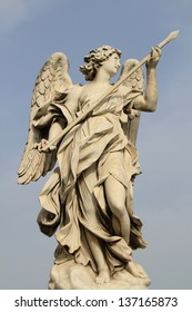 Bernini's statue of angel from Sant' Angelo bridge,Rome,Italy