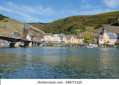 Bernkastel-Kues at the Moselle with Bridge