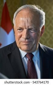 BERN,SWITZERLAND/MAY 31,2016: President of Switzerland Johann Schneider-Ammann, during an interview Russian television