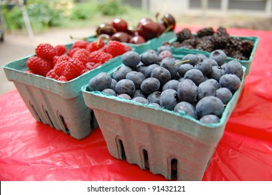 Berries and Cherries on Display