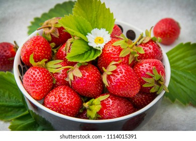 Berries. Fresh ripe berries, cherries, strawberries. Tasty breakfast.