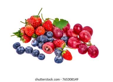 Berries fruit  on white