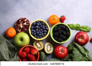 Beeren Obst Gemüse für eine gesunde Ernährung