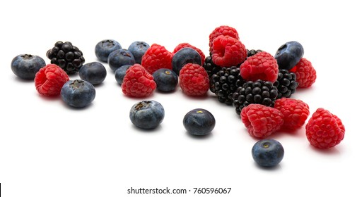 Berries isolated on white background