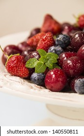 berries on the plate
