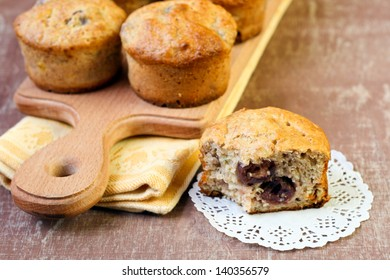 Berry and banana healthy muffins