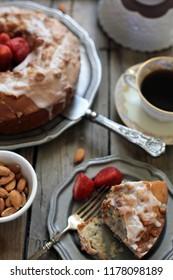 berry cake & coffee