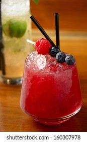 berry cocktail in glass