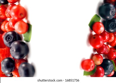 berry frame isolated on white