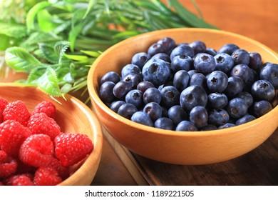 Berry Fruits in a Bowl - Shutterstock ID 1189221505