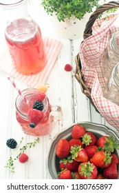 berry juice on table