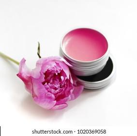 berry lip balm in the jar