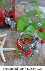 berry & mint water