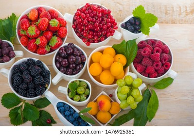 berry mix isolated on a white background.