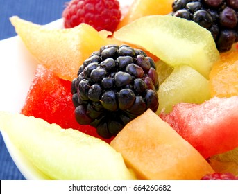berry  salad and melon