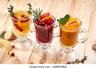 berry tea with herbs and berries