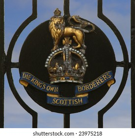 BERWICK UPON TWEED, ENGLAND, JUNE 2008: Insignia at the Kings Own Scottish Borderers Regimental Museum. A Scottish regiment in the British Army whose regimental museum is in England.