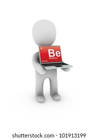 beryllium symbol on screen laptop