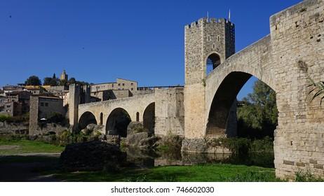 Besalu bridge, la Garrotxa, Girona, Catalonia
