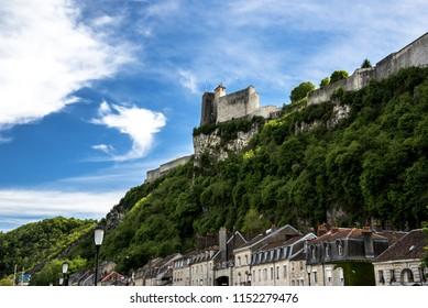 Besancon castle in franche comté france