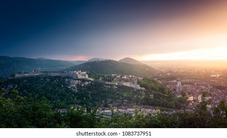 Besancon citadelle sunset landscape france