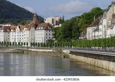 """BESANCON, FRANCE, May 15, 2016 : Besancon has been labeled a """"Town of Art and History"""". Since 2008, Besancon Vauban citadel has been listed as a UNESCO World Heritage Site."""