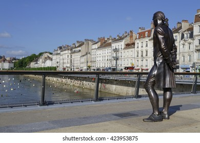 "BESANCON, FRANCE, May 15, 2016 : Besancon has been labeled a ""Town of Art and History"". Since 2008, Besancon Vauban citadel has been listed as a UNESCO World Heritage Site."