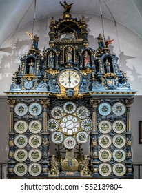 BESANCON/FRANCE - SEPTEMBER 13 : View of the Astronomical Clock in Cathedral of St Jean in Besancon France on September 13, 2015