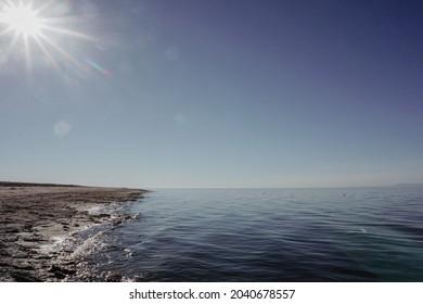 Beside the Salton Sea in California