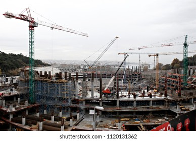 The Besiktas JK sports stadium Under construction in the Besiktas district of Istanbul, Turkey on Dec. 4, 2014