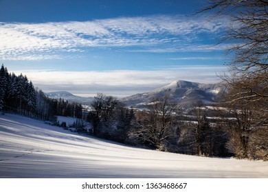 Beskydy mountains landscape in winter