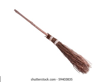 A besom or more commonly known as the  witches broomstick .It was often utilized in the magical practices of the Middle Ages
