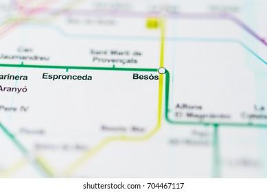 Besos, Barcelona Metro map.