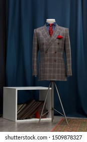 Bespoke checkered jacket in traditional technique of tailoring