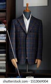 Bespoke jacket on a mannequin. Men's Clothing