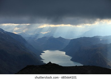 Besseggen Ridge in Jotunheimen National Park ,Scenic lake Gjende, Jotunheimen national park, Norway