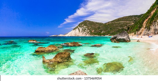 Best beaches of Greece - Petani in Kefalonia, ionian islands