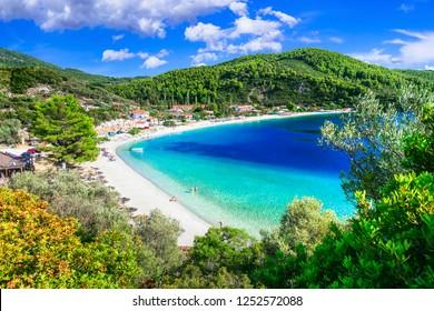 Best beaches of Skopelos island - Panormos.  Greece