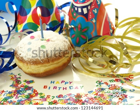 Best Birthday Wishes With Donut And Candle